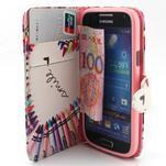 Diaryleather puzdro pre mobil Samsung Galaxy S4 mini - smile - 5/7