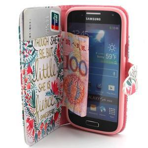 Diaryleather puzdro pre mobil Samsung Galaxy S4 mini - Shakespeare - 5