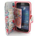 Diaryleather puzdro pre mobil Samsung Galaxy S4 mini - Shakespeare - 5/7