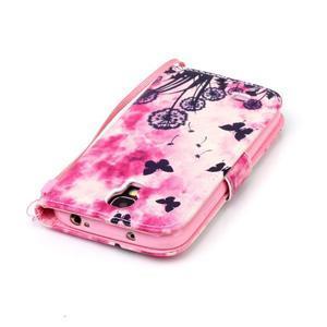 Diary peněženkové pouzdro na mobil Samsung Galaxy S4 mini - motýlci - 5