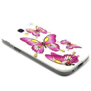 Transparentný gélový obal pre Samsung Galaxy S4 mini - motýle - 5