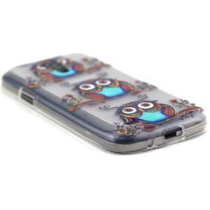 Transparentný gélový obal pre Samsung Galaxy S4 mini - sovičky - 5