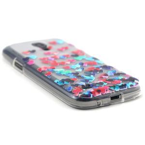 Transparentný gélový obal pre Samsung Galaxy S4 mini - srdiečka - 5