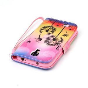 Diary peňaženkové puzdro pre mobil Samsung Galaxy S4 mini - púpavy - 5