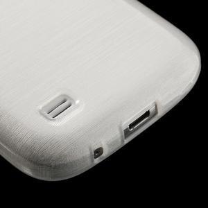 Brushed gelový obal na mobil Samsung Galaxy S4 mini - bílý - 5
