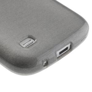 Brushed gelový obal na mobil Samsung Galaxy S4 mini - šedý - 5