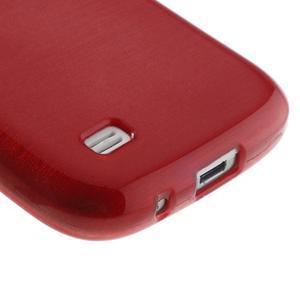Brushed gélový obal pre mobil Samsung Galaxy S4 mini - červený - 5