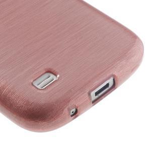 Brushed gelový obal na mobil Samsung Galaxy S4 mini - růžový - 5