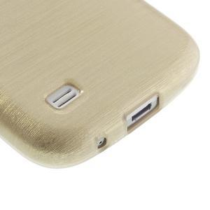 Brushed gélový obal pre mobil Samsung Galaxy S4 mini - zlatý - 5