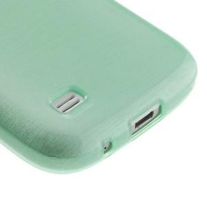Brushed gélový obal pre mobil Samsung Galaxy S4 mini - azúrový - 5