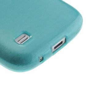 Brushed gélový obal pre mobil Samsung Galaxy S4 mini - modrý - 5
