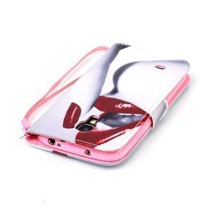 Diary peněženkové pouzdro na mobil Samsung Galaxy S4 mini - sexy rty - 5
