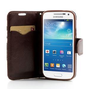 Kvetinkové puzdro pre mobil Samsung Galaxy S4 mini - modré pozadie - 5