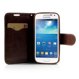 Jeans stylové pouzdro na mobil Samsung Galaxy S4 mini - černomodré - 5