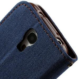 Jeans stylové pouzdro na mobil Samsung Galaxy S4 mini - tmavěmodré - 5