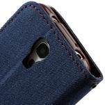 Jeans stylové pouzdro na mobil Samsung Galaxy S4 mini - tmavěmodré - 5/7