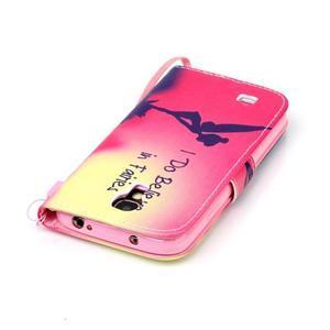 Diary peňaženkové puzdro pre mobil Samsung Galaxy S4 mini - víla - 5