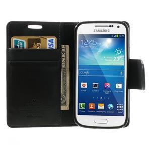Sonata PU kožené pouzdro na mobil Samsung Galaxy S4 mini - černé - 5