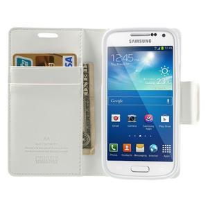 Sonata PU kožené pouzdro na mobil Samsung Galaxy S4 mini - bílé - 5