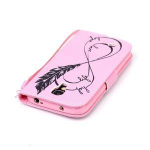 Diary peňaženkové puzdro pre mobil Samsung Galaxy S4 mini - love - 5