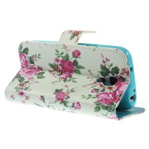 Style peňaženkové puzdro pre Samsung Galaxy S4 mini - kvietky - 5
