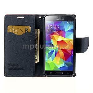 Diary peňaženkové puzdro pre Samsung Galaxy S5 - červené - 5