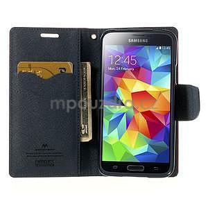 Diary peňaženkové puzdro pre Samsung Galaxy S5 - rose - 5