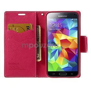 Diary peněženkové pouzdro na Samsung Galaxy S5 - růžové - 5