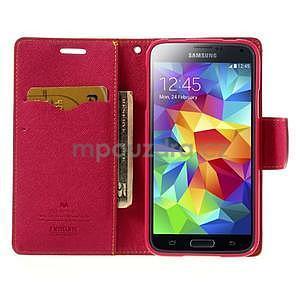 Diary peňaženkové puzdro pre Samsung Galaxy S5 - žlté - 5