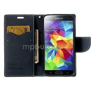 Diary peněženkové pouzdro na Samsung Galaxy S5 - azurové - 5