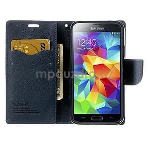 Diary peněženkové pouzdro na Samsung Galaxy S5 - fialové - 5