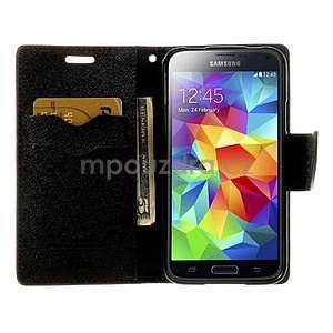 Diary peňaženkové puzdro pre Samsung Galaxy S5 - hnedé - 5