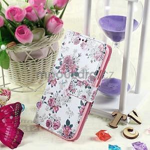 Ochranné puzdro pre mobil Samsung Galaxy S5 - kvetinová koláž - 5