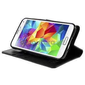 Elegantní peněženkové pouzdro na Samsung Galaxy S5 - černé - 5