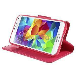 Elegantní peněženkové pouzdro na Samsung Galaxy S5 - rose - 5