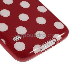 Puntíkovaný gélový kryt pre Samsung Galaxy S5 - červený - 5