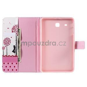 Ochranné koženkové puzdro na Samsung Galaxy Tab E 9.6 - dievča & púpavy - 5