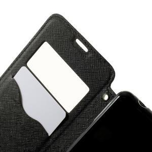 Peňaženkové puzdro s okienkom na Sony Xperia E3 - čierne - 5