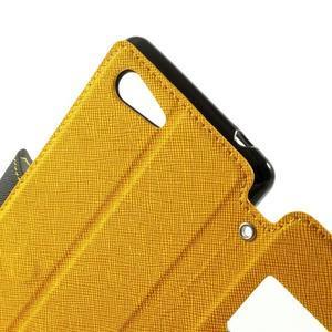 Peněženkové pouzdro s okýnkem na Sony Xperia E3 - žluté - 5