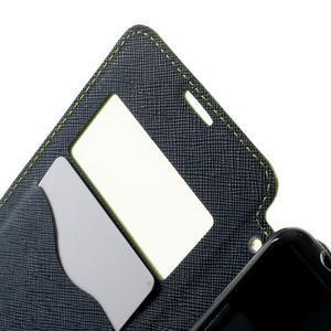 Peňaženkové puzdro s okienkom na Sony Xperia E3 - zelené - 5