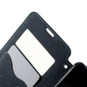 Peňaženkové puzdro s okienkom na Sony Xperia E3 - svetlomodré - 5