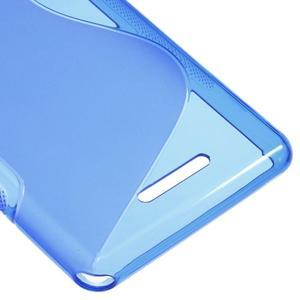 S-line gélový obal pre Sony Xperia E3 - modrý - 5