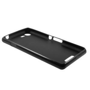 Matný gélový obal pre mobil Sony Xperia E3 - čierny - 5