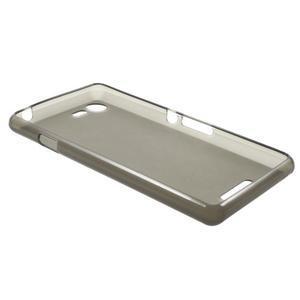 Matný gélový obal pre mobil Sony Xperia E3 - sivý - 5