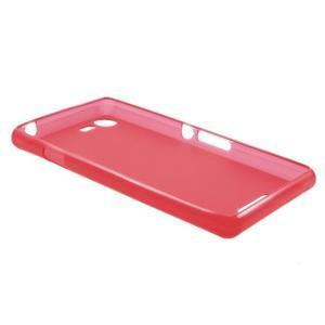 Matný gélový obal pre mobil Sony Xperia E3 - červený - 5
