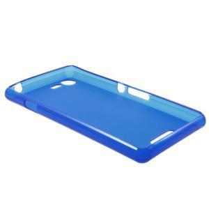Matný gélový obal pre mobil Sony Xperia E3 - modrý - 5