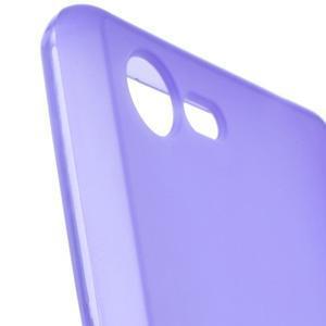 Matný gélový obal pre mobil Sony Xperia E3 - fialový - 5