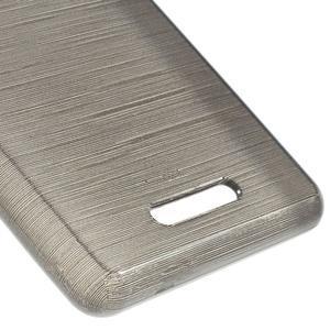Brushed gélový obal pre mobil Sony Xperia E3 - sivý - 5