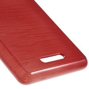 Brushed gélový obal pre mobil Sony Xperia E3 - červený - 5