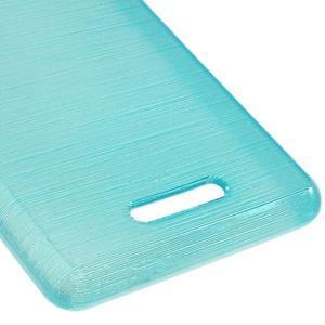 Brushed gélový obal pre mobil Sony Xperia E3 - modrý - 5
